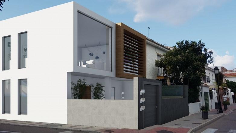 Rénovation d'une maison en rangée d'angle